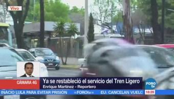 Se restablece servicio de Tren Ligero en la CDMX
