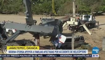Sedena otorga apoyos a familias afectadas por accidente de helicóptero