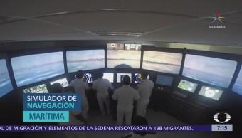 Semar entrena a marinos con simuladores de navegación y vuelo