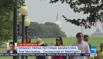 Senado frena reforma migratoria de Trump