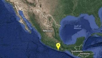 Sismo de magnitud preliminar 5.5 sacude Pinotepa Nacional, Oaxaca