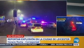 Suman varios heridos por fuerte explosión en ciudad de Leicester