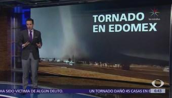 Tornado afecta 45 viviendas en Jiquipilco, Estado de México