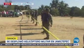 Trece Muertos 15 Lesionados Desplome Helicóptero Militar Oaxaca