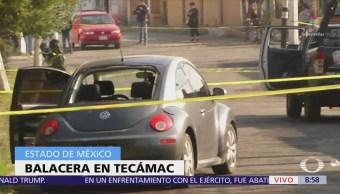 Un muerto, dos lesionados y dos detenidos tras balacera en Tecamac, Edomex