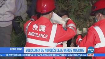 Vuelca Autobús Hong Kong 19 Muertos 40 Heridos