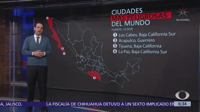12 de las ciudades más peligrosas del mundo son mexicanas