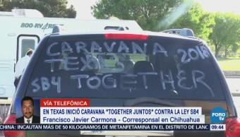 Texas Inicia Caravana Together Juntos Contra Ley SB4