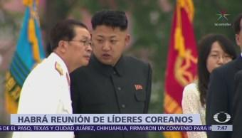 Acuerdan reunión entre líderes de Corea del Norte y Corea del Sur