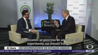 Al Gore, en entrevista exclusiva para Noticieros Televisa, analiza Presidencia de Trump