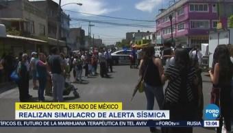Alcalde de Neza explica sonido intermitente de alerta sísmica durante simulacro