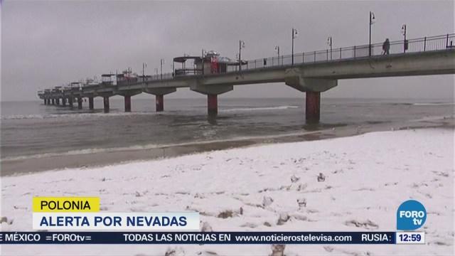Alerta en Polonia por nevadas en plena primavera