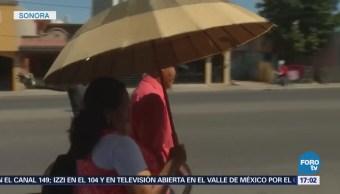 Alertan por temperaturas extremas y fuertes vientos en Sonora