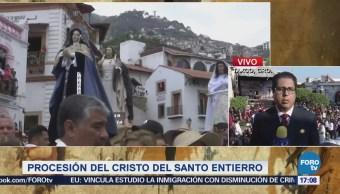 Alistan la Procesión del Cristo del Santo Entierro en Taxco