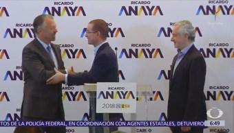 Anaya presenta a Jorge Castañeda como su coordinador estratégico de campaña