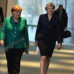 Angela Merkel y Theresa May, mujeres más influyentes del mundo. (Gettyimages)