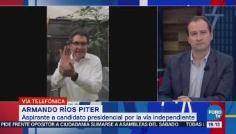 Armando Ríos Piter sorprendido con la información del INE