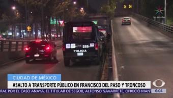 Asaltan transporte público en Francisco del Paso y Troncoso