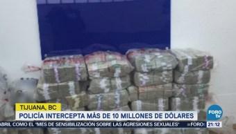 Aseguran 10 millones de dólares en Aeropuerto de Tijuana