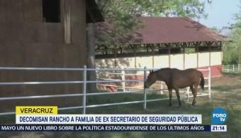Aseguran rancho del exsecretario de Seguridad en Veracruz