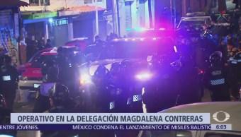 Así fue el operativo policiaco en la delegación Magdalena Contreras, CDMX