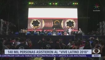 Asisten 140 mil personas al 'Vive Latino 2018'