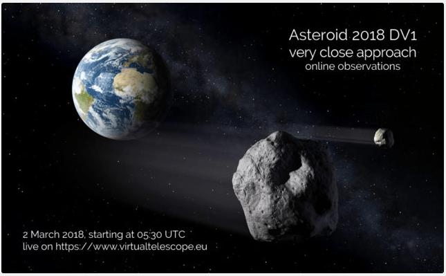 Asteroide pasará por la Tierra a distancia menor que Luna