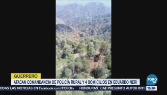 Atacan comandancia de Policía rural en Eduardo Neri, Guerrero