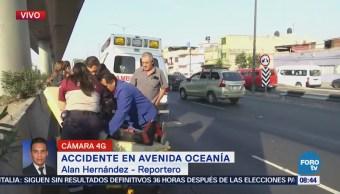 Automovilista arrolla a motociclista en avenida Oceanía