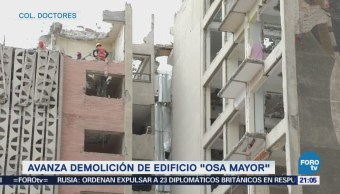 Avanza demolición de edificio 'Osa Mayor'