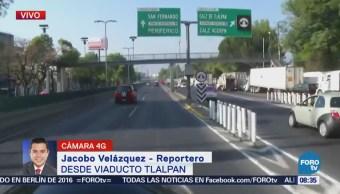 Avanza la circulación en Viaducto Tlalpan hacia la salida a Cuernavaca