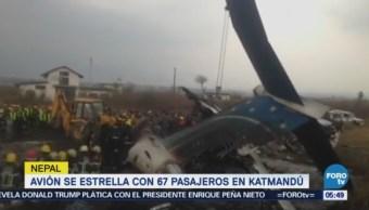 Avión se estrella en aeropuerto de Katmandú, Nepal; hay 40 muertos