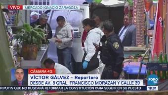 Balacera en el mercado Ignacio Zaragoza en CDMX