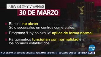 Bancos no operan en jueves y viernes santos en México