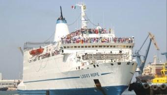 Llega barco 'Logos Hope' al puerto de Veracruz