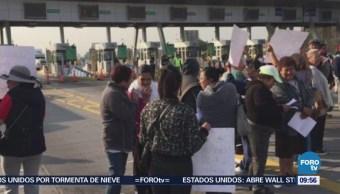 Bloquean Circuito Exterior Mexiquense en Ecatepec, Estado de México
