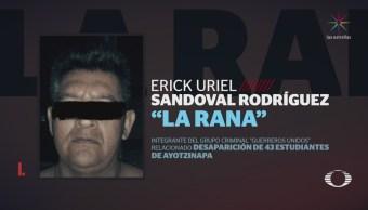 Cae 'La Rana', personaje clave en el caso Ayotzinapa