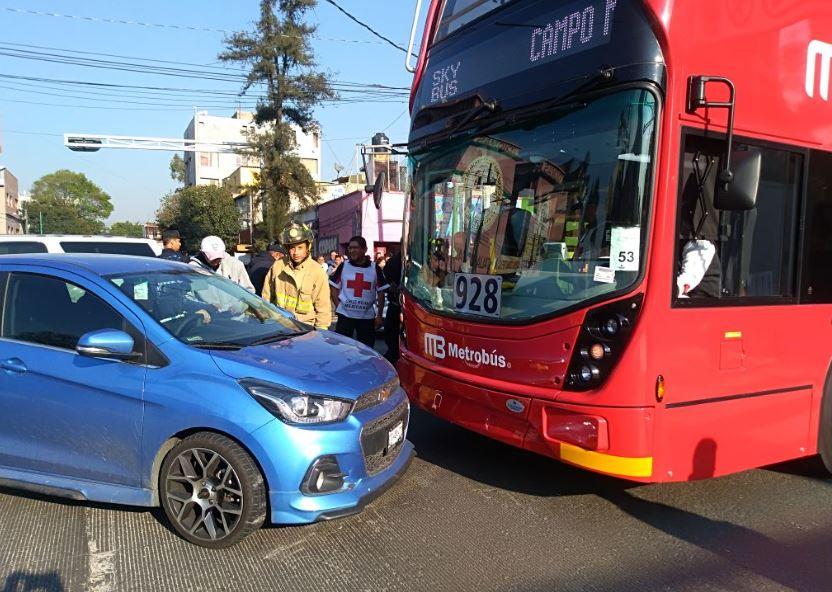 Línea 7 del Metrobús registró su primer choque