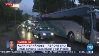Circuito Bicentenario y Río Piedad presentan complicaciones viales, CDMX