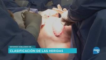 Especialista de la UNAM explica la clasificación de las heridas