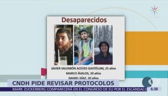 CNDH pide a Jalisco revisar protocolos de investigación por desaparición de estudiantes