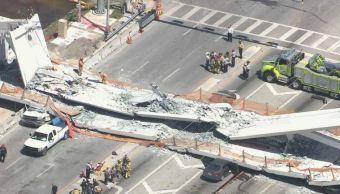 Colapsa puente peatonal en Universidad de Florida; hay 6 lesionados