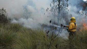 combaten incendios en Huitzilac y Tlalnepantla morelos