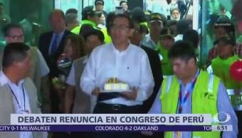 Congreso de Perú debate sobre renuncia de Pedro Pablo Kuczynski