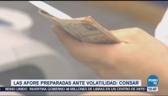 Consar: Afores están preparadas ante episodios de volatilidad
