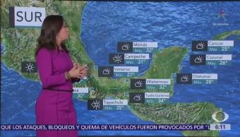 Continuarán lluvias en noroeste, oriente y sureste del México