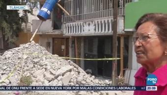 Damnificados en Tláhuac por sismo siguen esperando apoyo