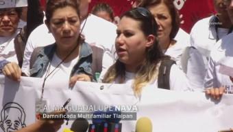 Damnificados marchan en la CDMX a seis meses del 19S