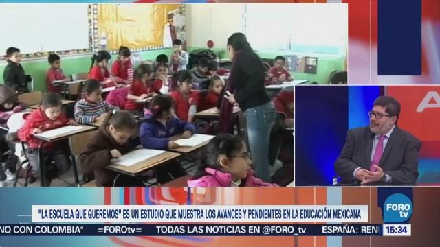 David Calderón explica el estudio 'La Escuela que Queremos'