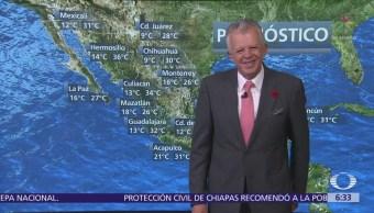 Despierta con Tiempo: Frente frío 38 ocasionará bajas temperaturas, calor y lluvias
